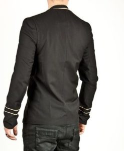 Napoleon Hook Jacket Flower, Gold Embroidery Black Military jackets, Jackets for Men, Traditional Jackets