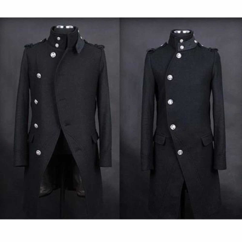 Punk Black Navy DoubleBreasted Fashion, Winter Jackets, best Jackets for Men, Gothic Clothing, buy gothic jacket, steampunk jacket for sale, gothic jacket for sale, goth jacket for sale, buy goth jackets, buy steampunk jackets