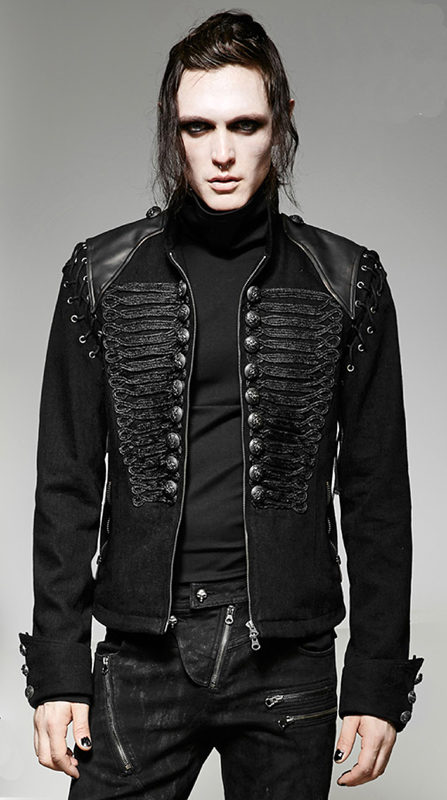 military jacket jeans officer dandy baroque embroidery, Gothic Jackets, Dandy Embroidery, Best Jackets