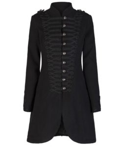 Braided Wool Effect Coat, Gothic jackets for Women, Gothic Clothing for Women