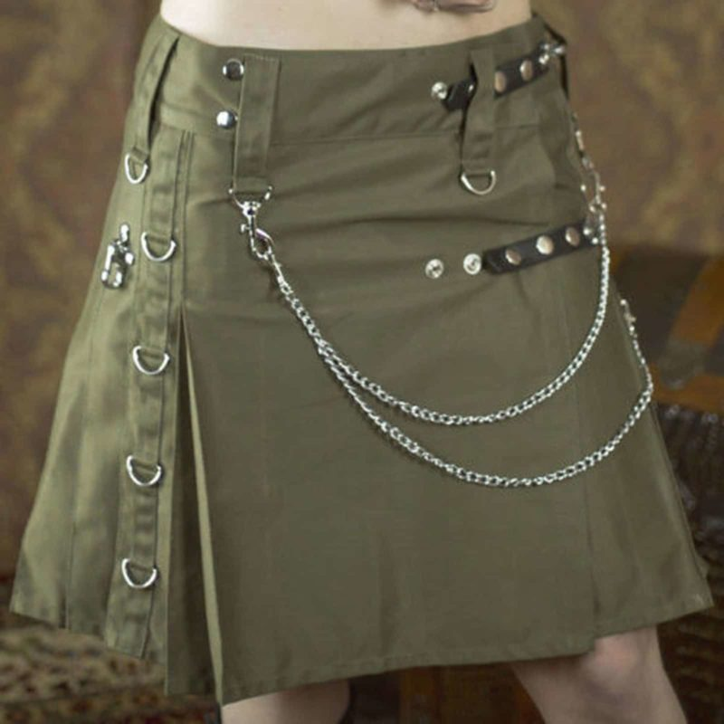 Drilled Cotton Fashion Utility Kilts, Women Utility kilts, best kilts for women