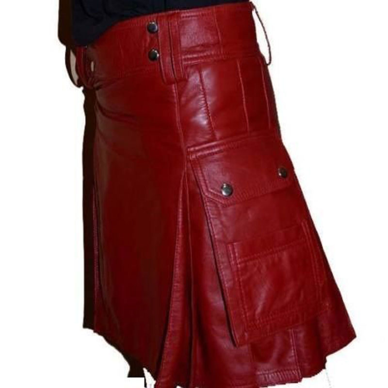 Leather kilts, Pleated Leather kilts, Kilts for Men in leather