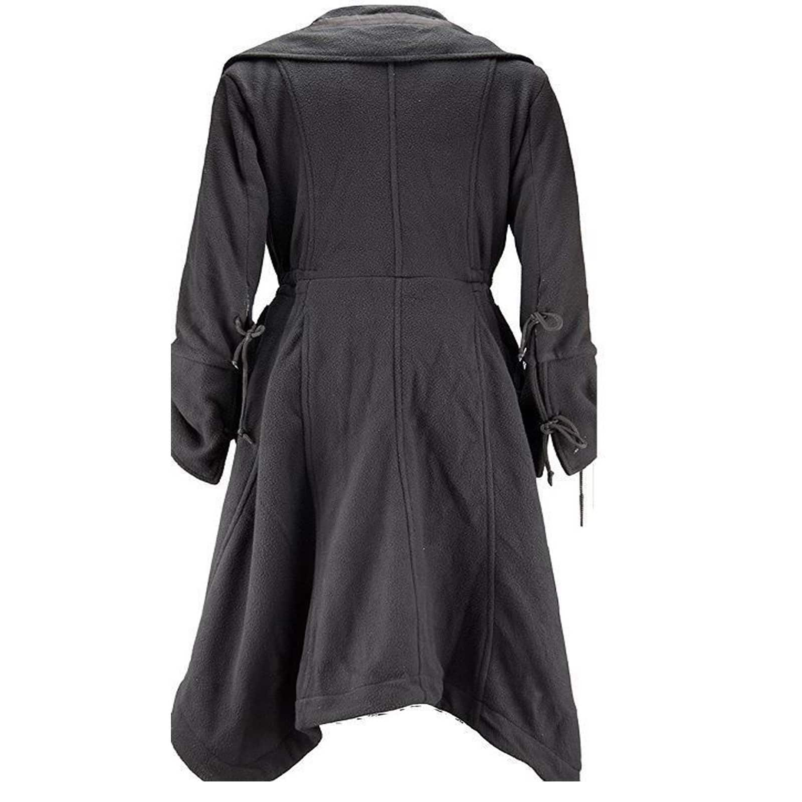 New Poizen Industries Black Fleece Long Angel Coat Jacket Gothic Small