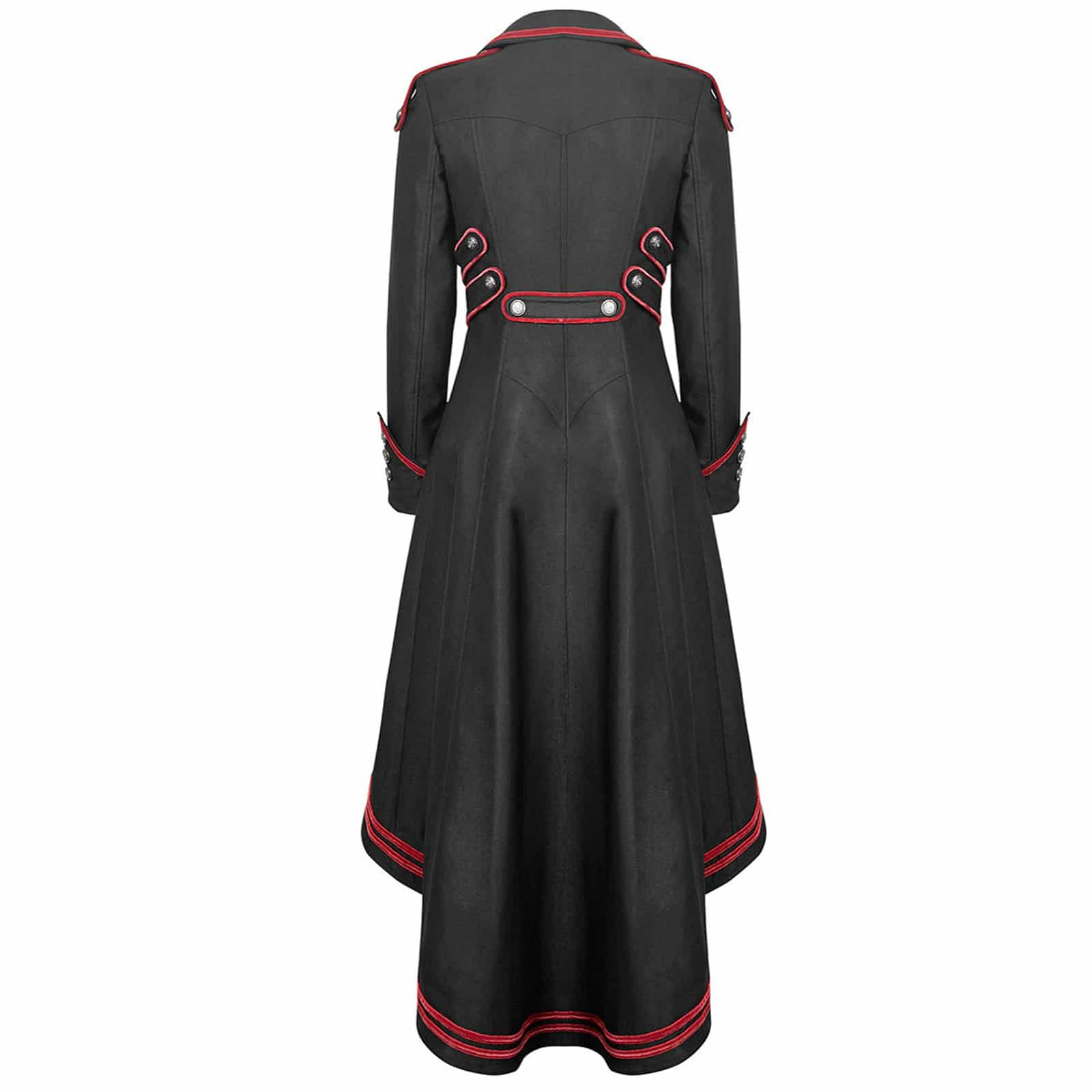 Black Red Long Gothic Jacket for Women