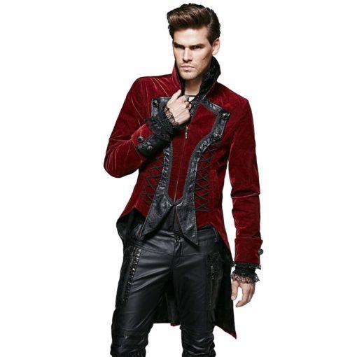 Punk Rave Dandy, Goth VTG Steampunk Velvet Tailcoat, Wedding Jackets for Gothic, Gothic Jackets