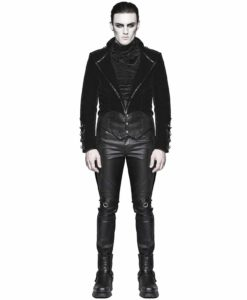 Punk Rave, devil Fashion, Steampunk Vampire Swallowtail, Gothic Jackets for Men