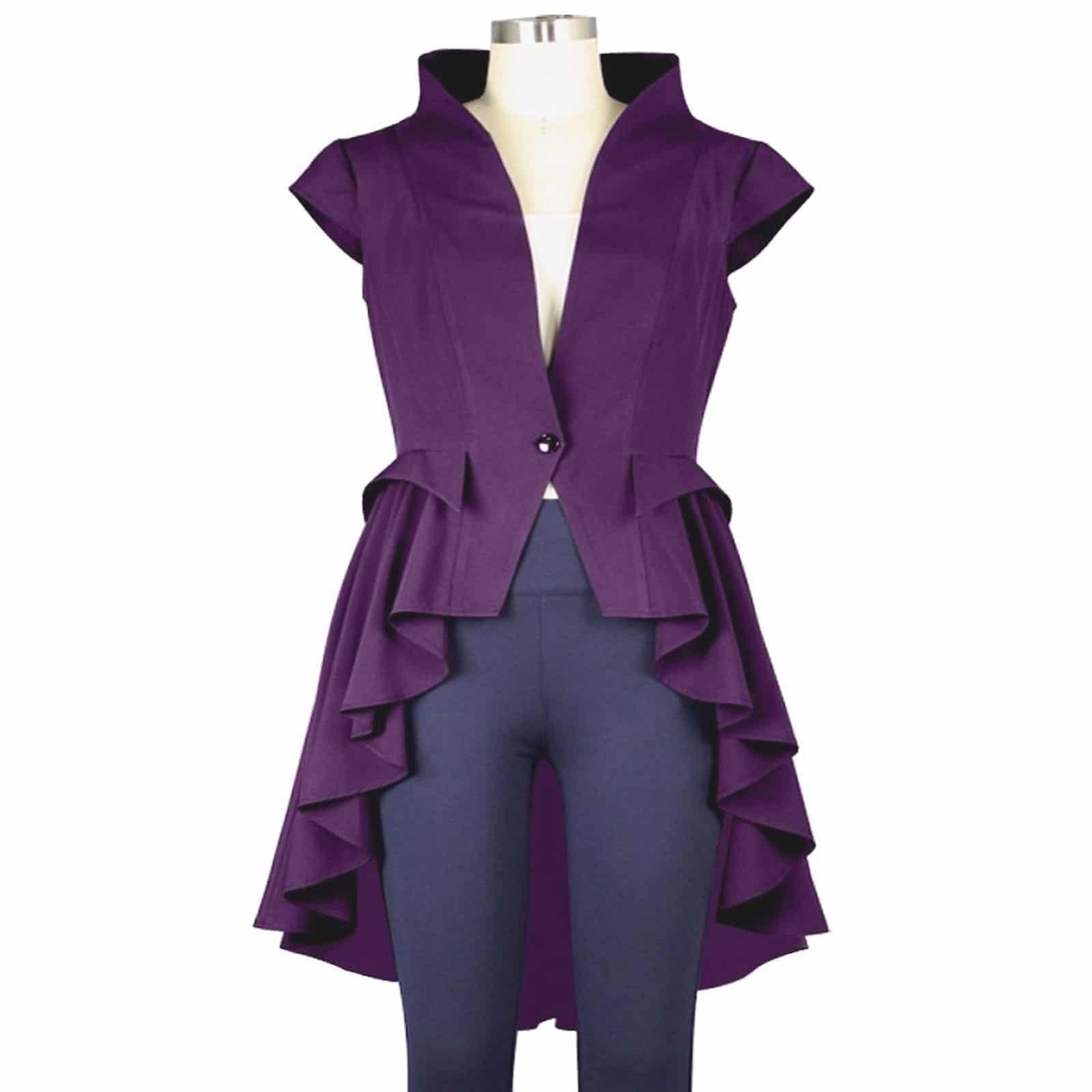 Purple coats for women