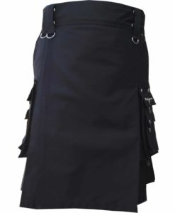 Deluxe Utility Sports Traditional Black Kilt, Traditional Kilt, Scottish Traditional Kilts, best Kilts for Men