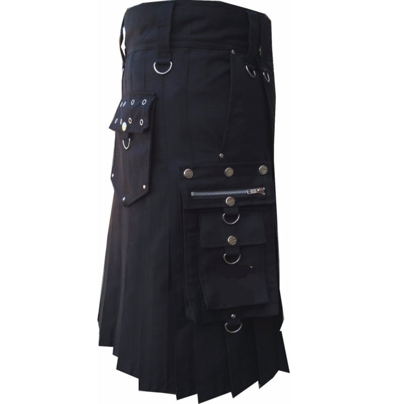 Kilt for steampunks, Steampunks kilts, Steampunk kilt for sale, Black steampunk Kilts, Kilts for sale, utility kilts for sale, Stylish kilts for sale, Steampunk style kilts