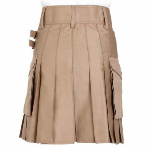 Khaki Cotton Kilt, Utility Kilts for Men, Khakhi Kilt, Best kilts