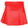 Short Mini Red Leather Kilt, Leather kilts for Women, Leather Kilts for Women