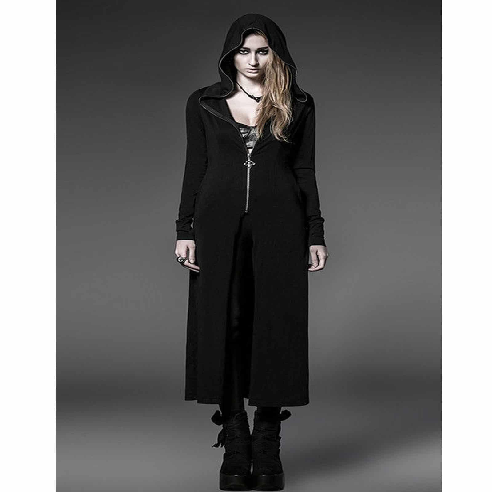 Stylish Steam Long Cardigan Shirt Jacket Black Witches Gothic ...