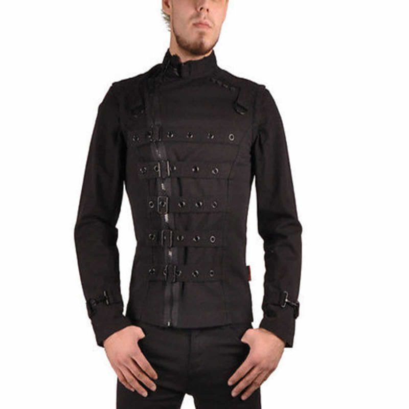 Bondo Bondage Emo Cyber Goth, Gothic Jackets, Gothic Jackets for men, gothic jacket for sale, punkrave gothic jacket, rave jacket, hook jacket, goth jacket for sale