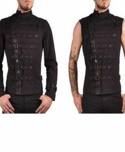 Bondo Bondage Emo Cyber Goth, Gothic Jackets, best Jackets, Gothic Jackets for men