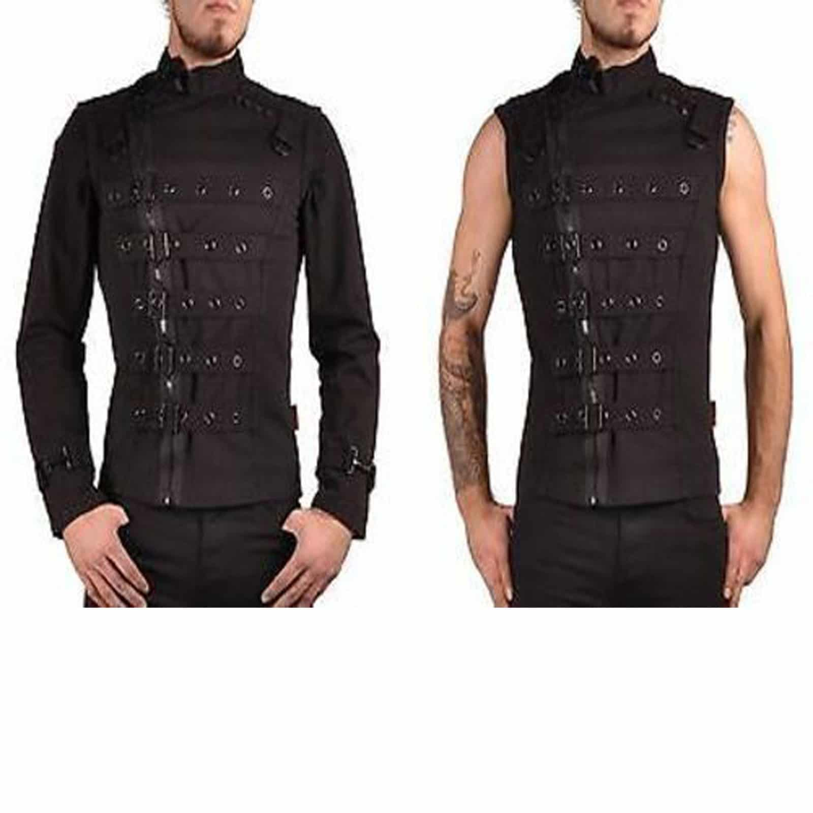 Goth clothing mens bondage top