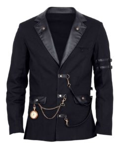Jacke Herren schwarz Gothic black jacket, Vintage Jackets for Men, Gothic Jackets for Man