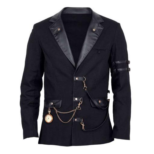 Jacke Herren schwarz Gothic black jacket, Vintage Jackets for Men, Gothic Jackets for Man