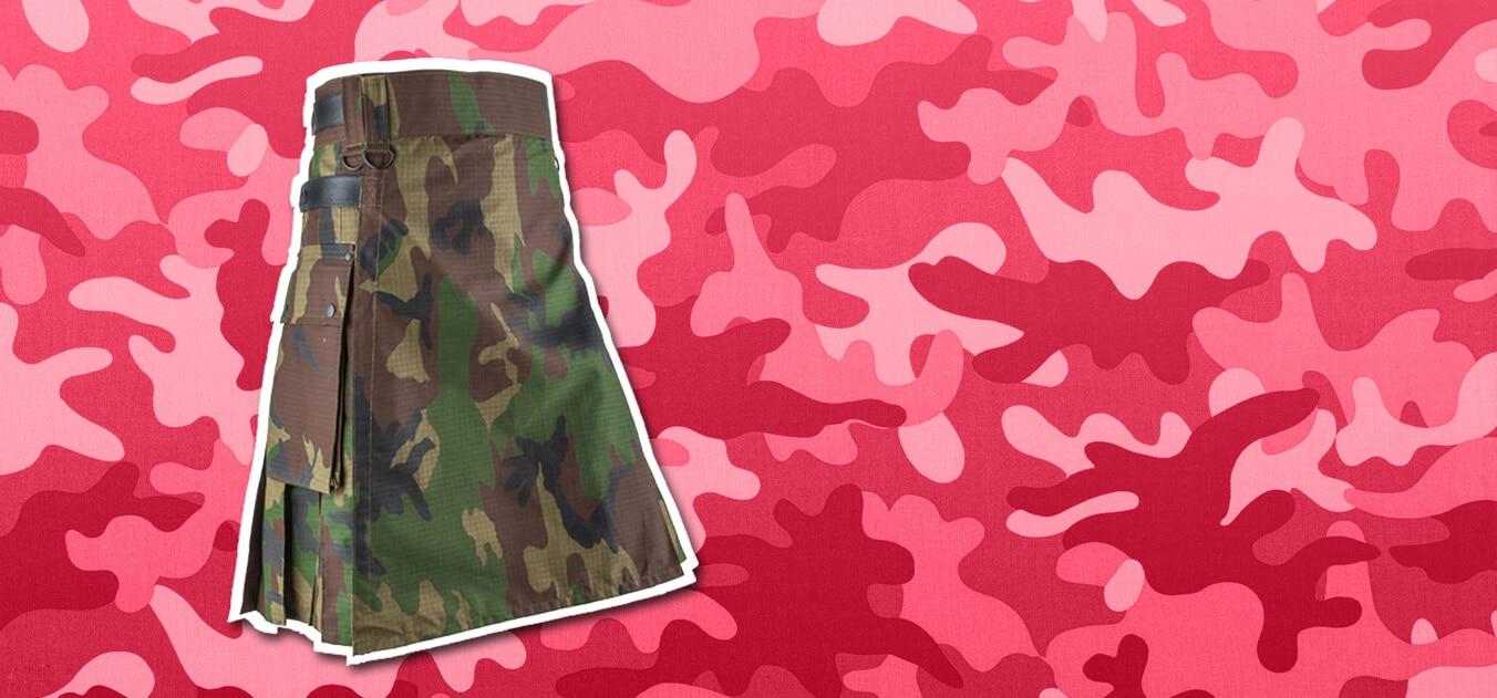 Camouflage kilts, Camouflage kilt for men, Camo kilts, Camouflage kilts by Kilt and Jacks