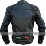 Bike-Racing-Black-Leather-Jacket-with-Free-CE-Armors-back