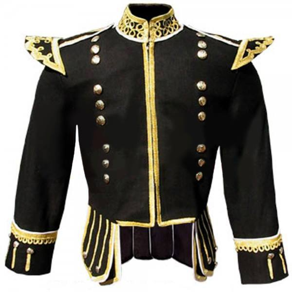 Golden trim doublet, golden trim drummer jacket, golden drummer jacket, Red Green Fancy Doublet, Fancy Doublets, Doublets, Stylish Doublets, piper drummer jacket, piper jacket, drummer jacket, doublet jacket for sale, fancy doublet jacket for sale, drummer jacket for sale, fancy doublet jacket for sale,piper jacket for sale