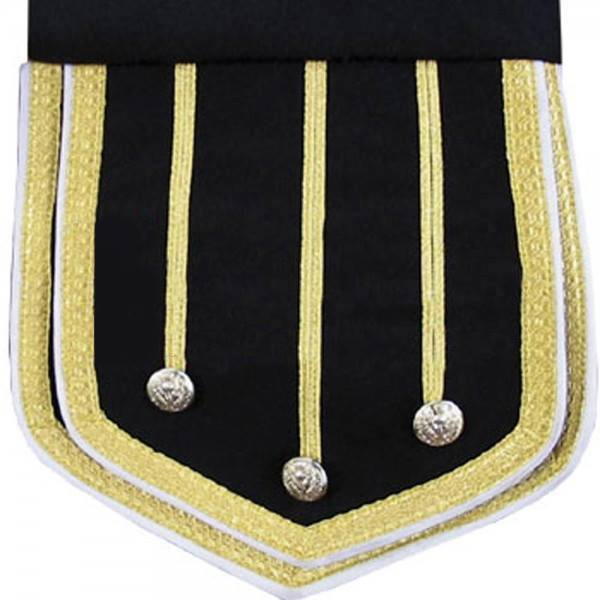 Black Fancy Doublet Piper Jacket with Gold Trim, doublets, fancy doublets, doublets for sale, fancy doublet for sale, buy black doublet, doublet for sale buy