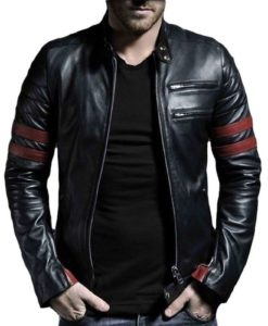 leather jacket, black leather jacket, biker leather jacket, leather jacket with straps