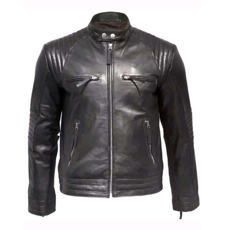 leather jacket, black leather jacket, padded leather jacket, leather jacket for men, biker leather jacket