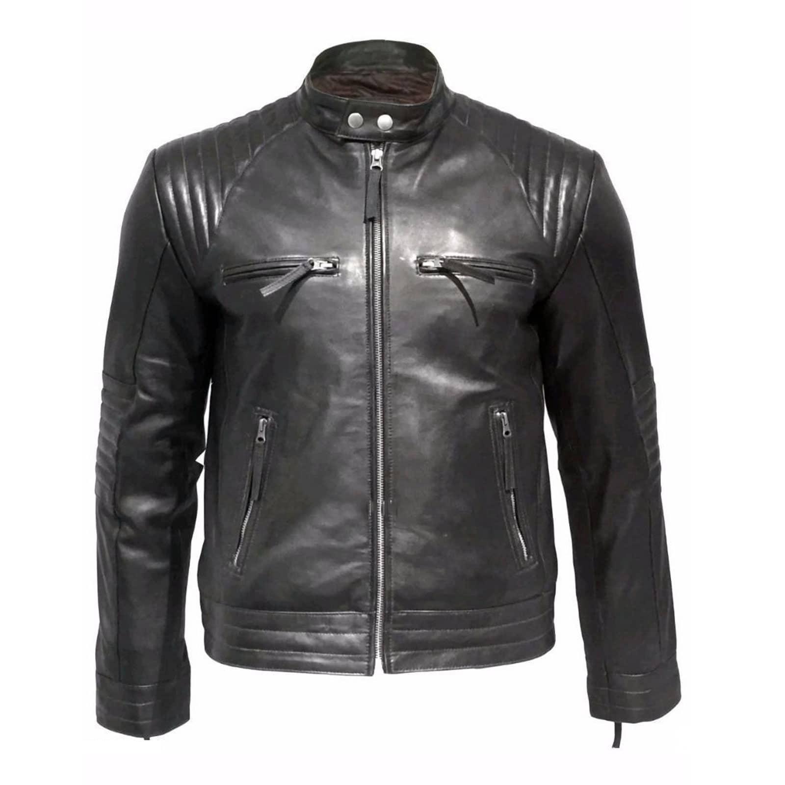 leather jacket, black leather jacket, padded leather jacket, leather jacket for men, biker leather jacket