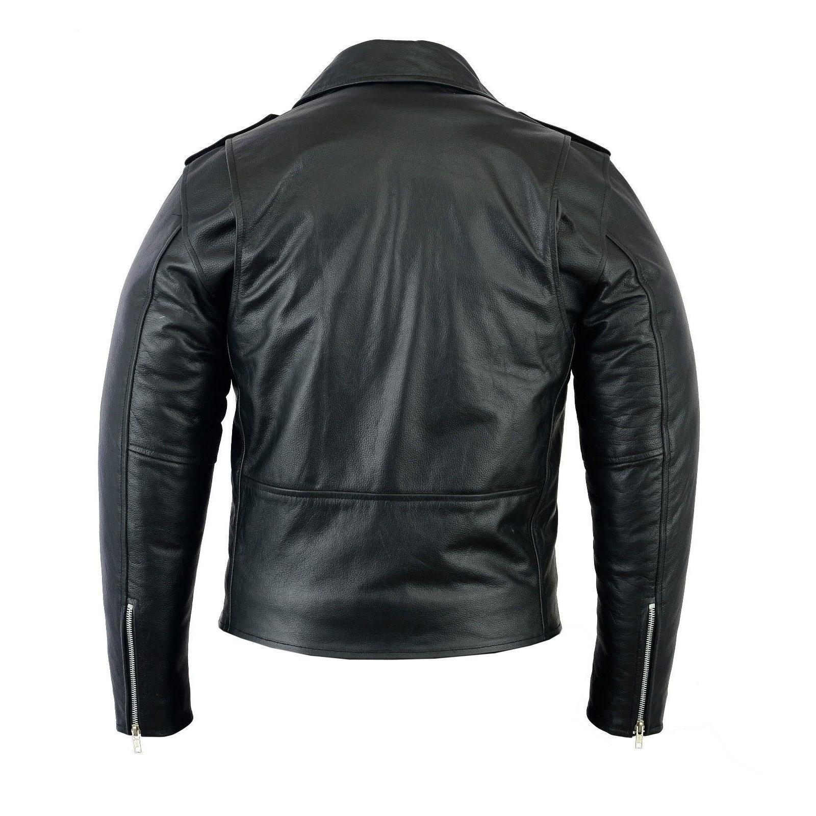 Brando Vintage Motorcycle Black Leather Jacket