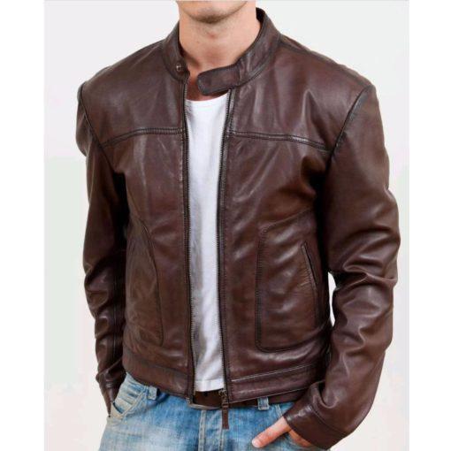 brown leather jacket, leather jacket, leather jacket