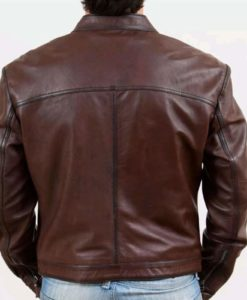 brown leather jacket, leather jacket, leather jacket