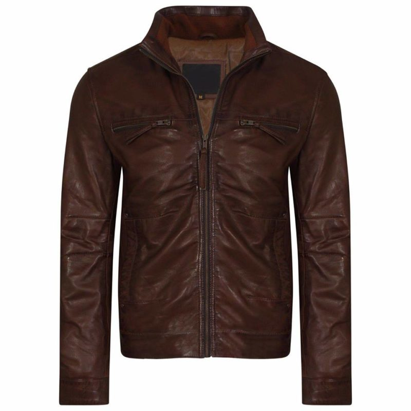 brown leather, leather jacket, leather jacket for men, biker leather jacket
