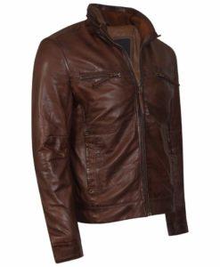 brown leather, leather jacket, leather jacket for men, biker leather jacket