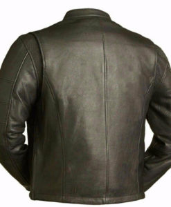 Leather jacket, mens leather jacket, cafe style jacket, biker leather jacket, biker jacket