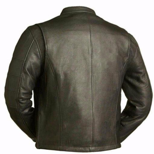 Leather jacket, mens leather jacket, cafe style jacket, biker leather jacket, biker jacket