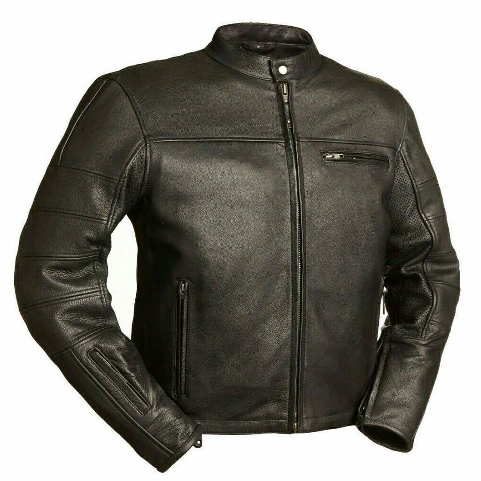 ac714b439 Cafe Racer Leather Jacket