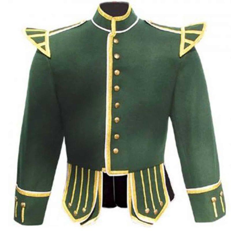 doublet jacket. green doublet jacket, piper doublet jacket, piper jacket for sale, doublet piper jacket for sale, buy doublet jacket, buy piper jacket, scottish doublet jacket