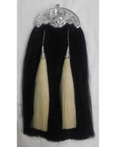 Black hair sporran, Horse hair sporran, Celtic sporran, traditional sporran