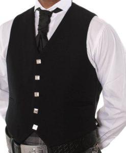 Vest, prince charlie vest, 5 buttons vest, thistle buttons