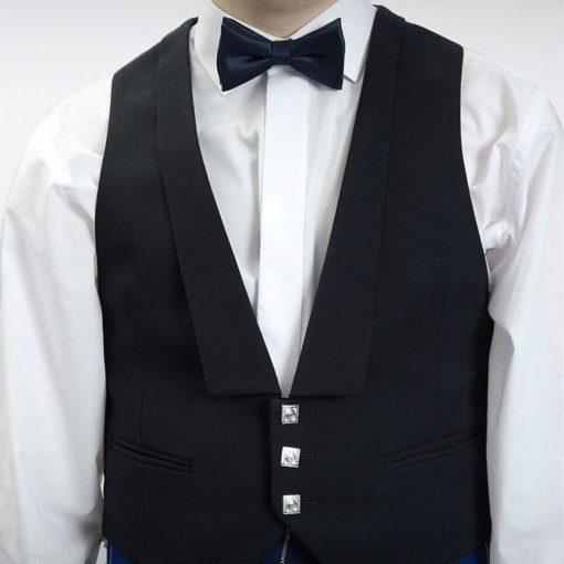 Prince Charlie vest, Vest, Black vest, Scottish Vest