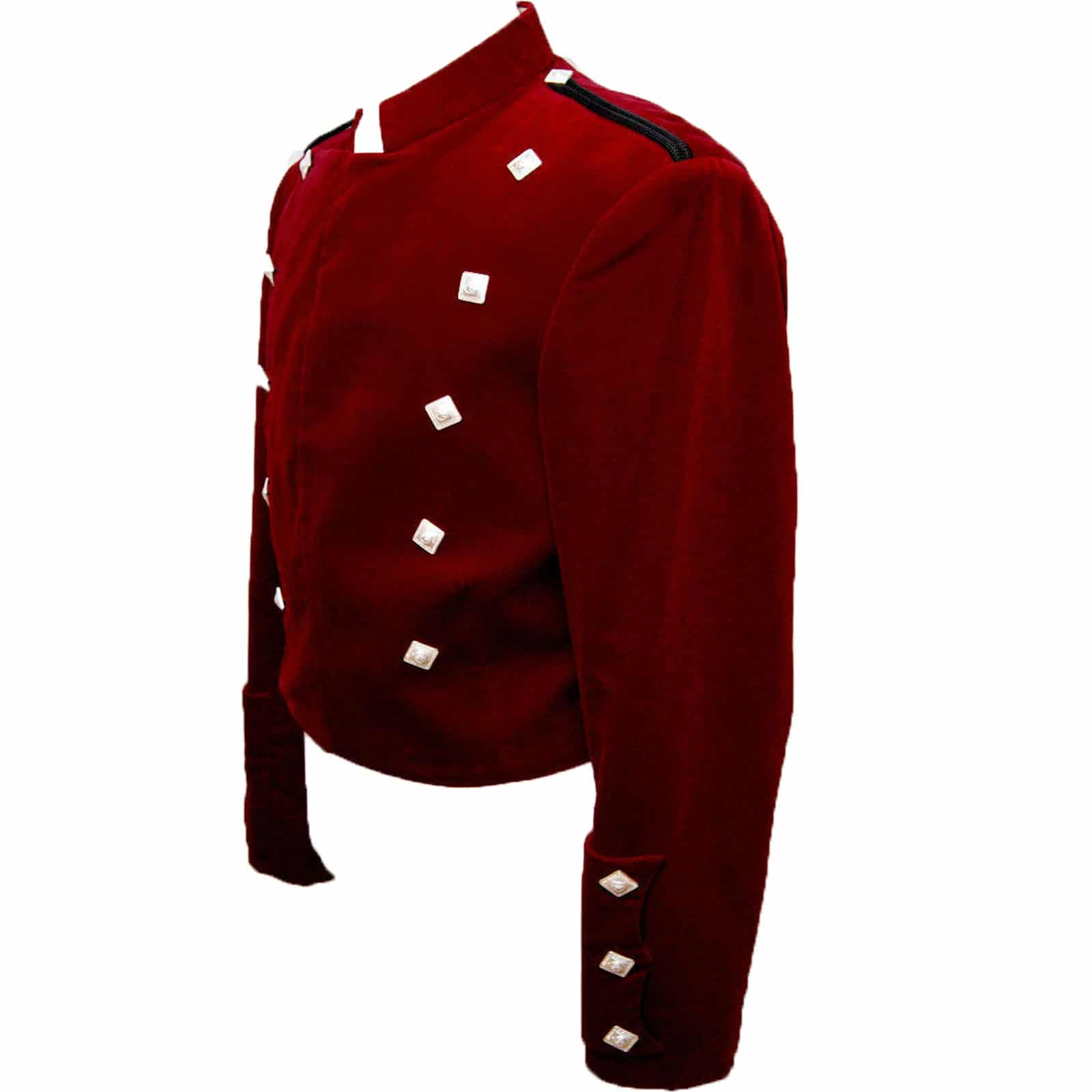 Montrose Red Velvet Kilt Jacket
