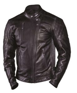 Ronal Sands leather jacket, clash leather jacket, black leather jacket, padded leather jacket