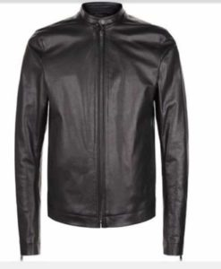black leather, leather jacket, black jacket for men
