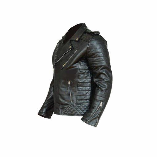Black Classical Vintage Leather Jacket.