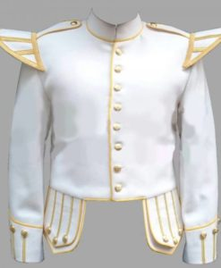 White doublet, white fancy doublets, Doublet with Golden Trim, Doublet Trim