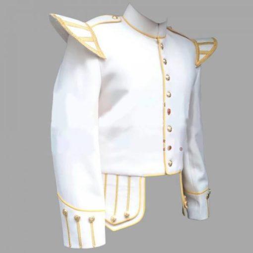 White doublet, white fancy doublets, Doublet with Golden Trim, Doublet Trim