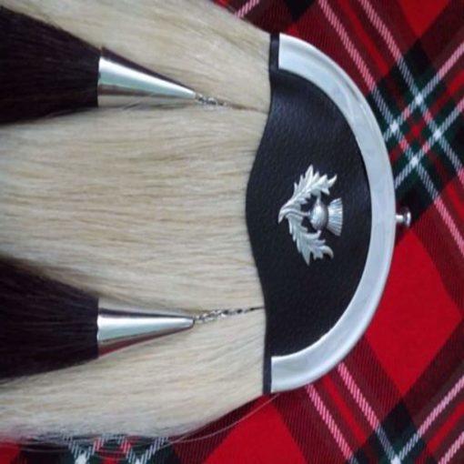 White Horse Hair sporran, sporran, Hair sporran, Fur sporran