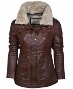leather jacket, fur collar jacket, faux leathrer jacket