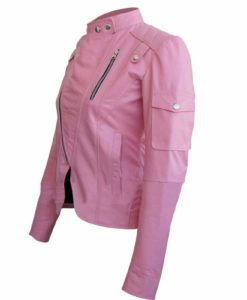 Women leather jacket, leather jacket for women, pink leather jacket, best leather jacket