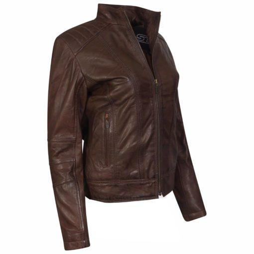 leather jacket, women leather jacket, stylish jacket, Leather jacket for women, brown leather